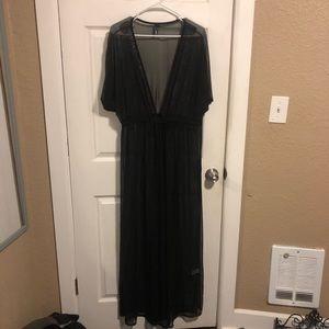 Sheer full length swimsuit cover-up//Fashionnova-L